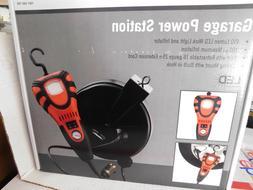 25 ft Extension Cord Reel w/ 450-Lumen LED Handheld Work Lig