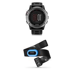 Garmin fenix 3 GPS Watch, Gray and HRM-Tri Heart Rate Monito