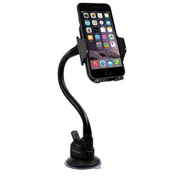 Macally Windshield Phone Mount, Adjustable Suction Cup Windo