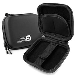 Premium Quality Black Hard EVA Shell Case with Carabiner Cli