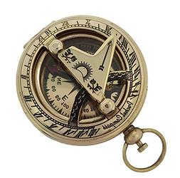 Brass Nautical Boat Compass Vintage Gimbaled Replica Brass M