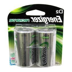 Energizer NH50BP2 NiMH Rechargeable Batteries, D, 2 Batterie