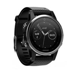 NEW Garmin Fenix 5S Multisport GPS Watch - Silver/Black Band