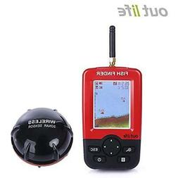fish finder - wireless sonar sensor and handheld lcd display
