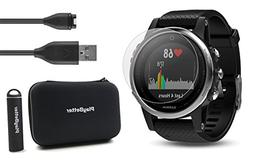 Garmin fenix 5S  Power Bundle | Includes HD Glass Screen Pro
