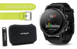 Garmin Fenix 5S Sapphire  Power Bundle | Includes Extra Band