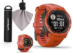 Garmin Instinct  Outdoor GPS Watch Power Bundle | with PlayB
