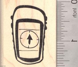 global positioning system rubber stamp geocaching handheld