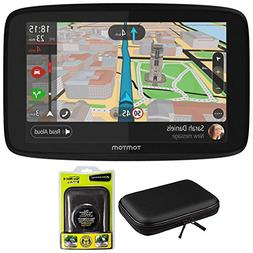 "TomTom GO 620 GPS 6"" Touch Screen  with Hardshell Case and D"