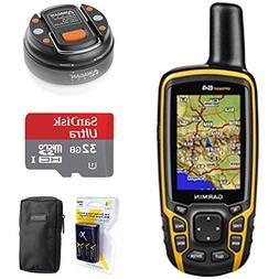 Garmin GPSMAP 64, Worldwide Handheld GPS Navigator  + 32GB M