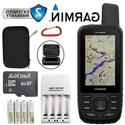 Garmin GPSMAP 66st Multi-Satellite Handheld Navigator with 1