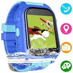 Kids Waterproof Smartwatch with GPS Tracker - Boys & Girls I