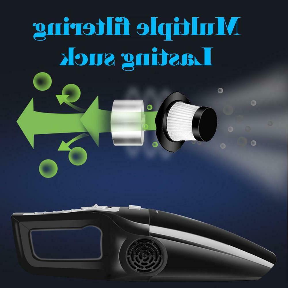 120W Car Vacuum Cleaner 3600mbar Use Mini