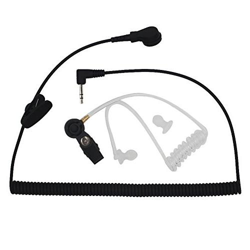 AOER Universal Listen-Only Acoustic Tube Headset Earpiece wi