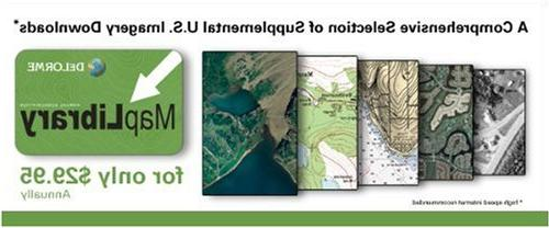 DeLorme Map Library Subscription Card for Topo USA 8.0 and E