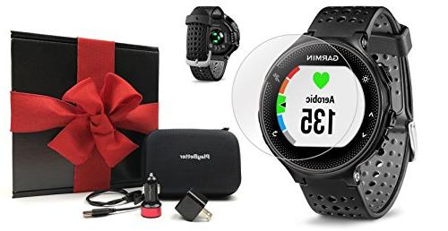 Garmin Forerunner 235  Gift Box Bundle | Includes Glass Scre
