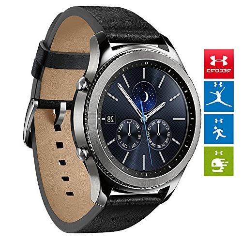 Samsung Bluetooth Watch Built-in GPS Silver Charger + 1 Year Extended