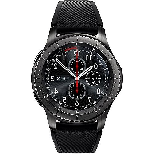 Samsung Gear Bluetooth GPS w/Wireless Charger, Screen Protector, Silver Metal Wrist 1 Year