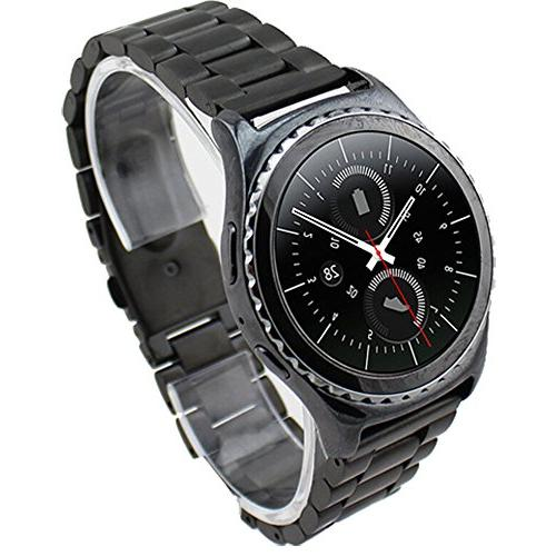 Bluetooth Watch GPS w/Wireless Glass Screen Protector, Metal and 1 Year Extended Warranty