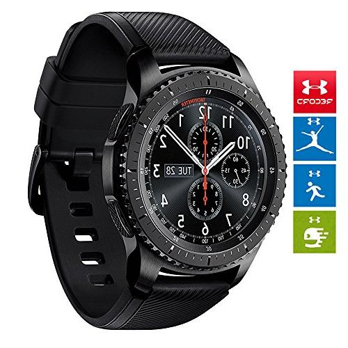 Samsung Gear S3 Frontier Bluetooth Watch with GPS w/Wireless Glass Protector, + Metal Bands and 1 Year