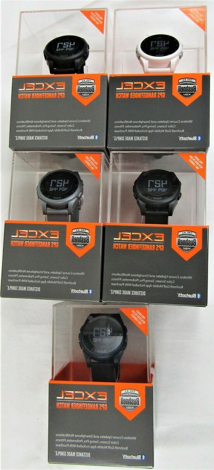 New Bushnell Golf Excel GPS Range Finder Watch Black Charcoa