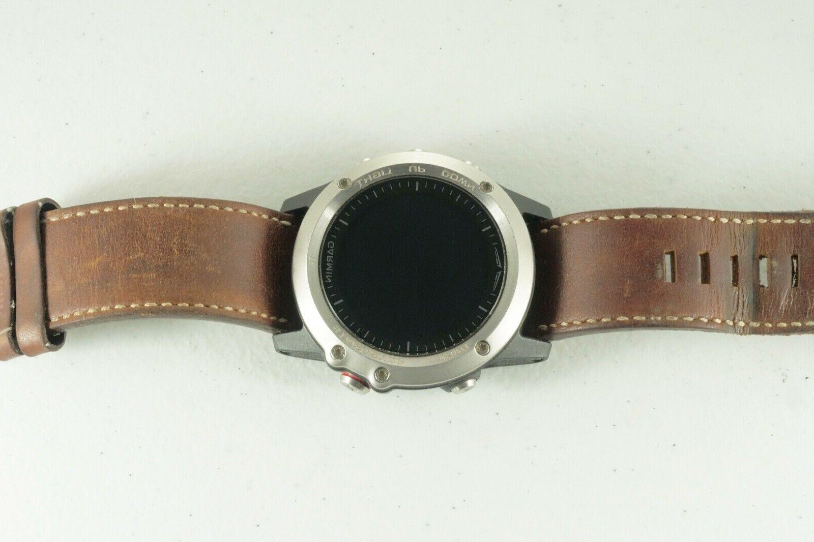 Garmin Pilot Watch Leather Band & Accessories Great Cond!