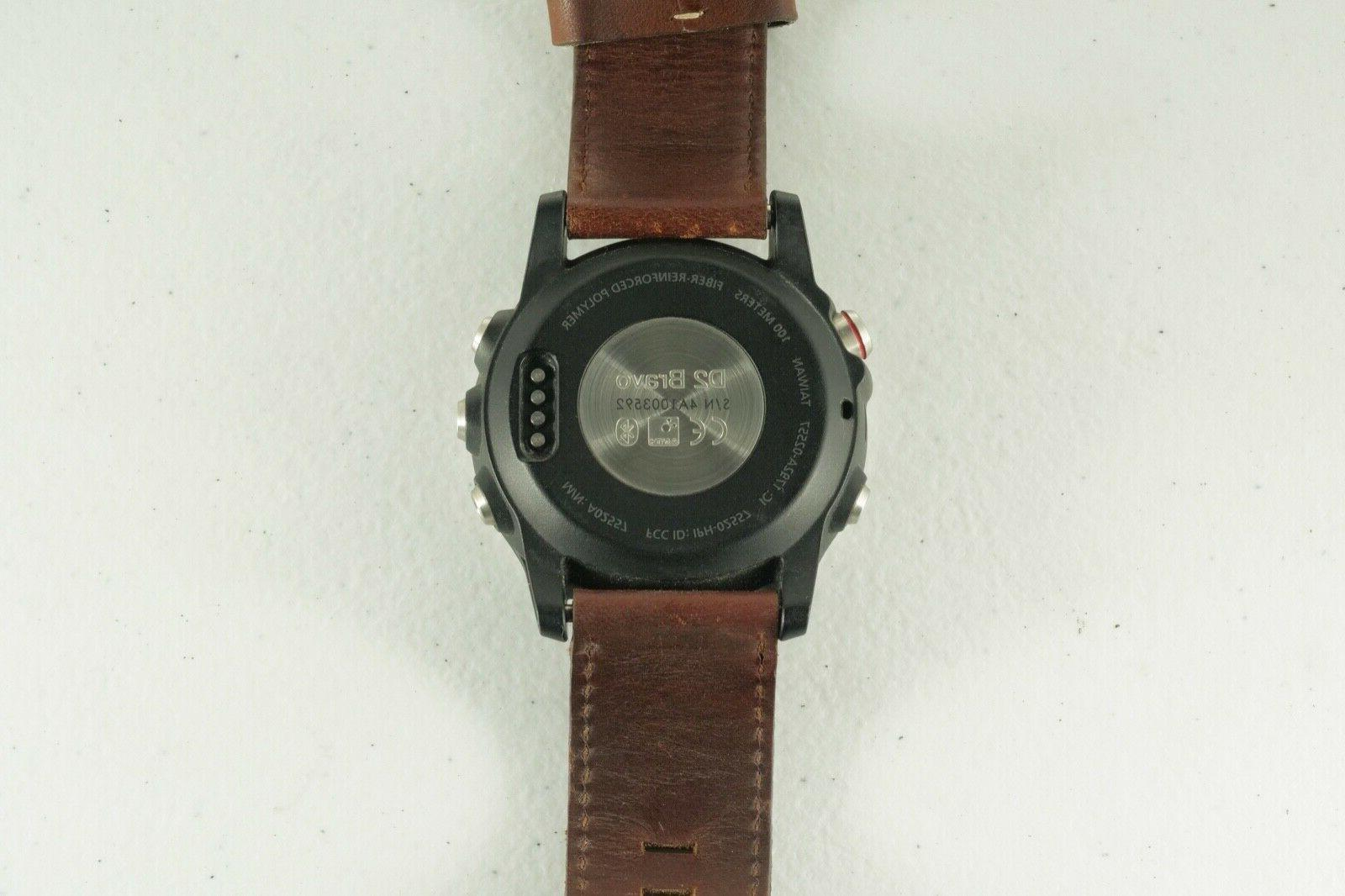 Garmin Pilot Watch w/ Leather Band Accessories Cond!