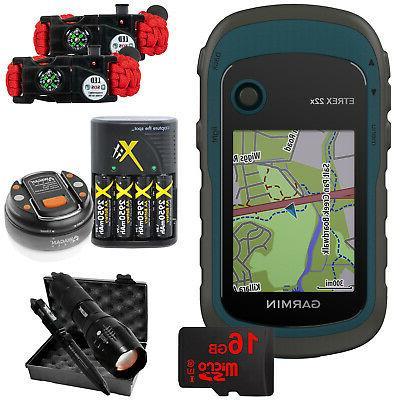 etrex 22x handheld gps with 16gb camping