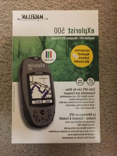 explorist 500 handheld gps unit waterproof brand