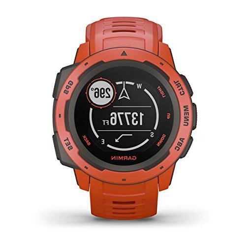 Garmin Instinct Outdoor Watch Power Bundle with & Retractable Microfiber Towel Watch