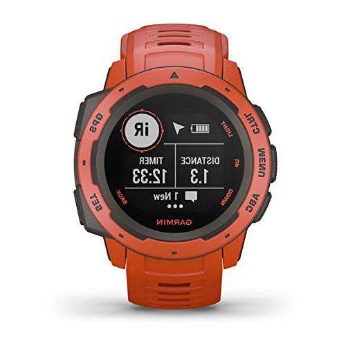 Garmin Watch Power   with Portable Charger & SPUDZ Retractable Watch Heart Rate