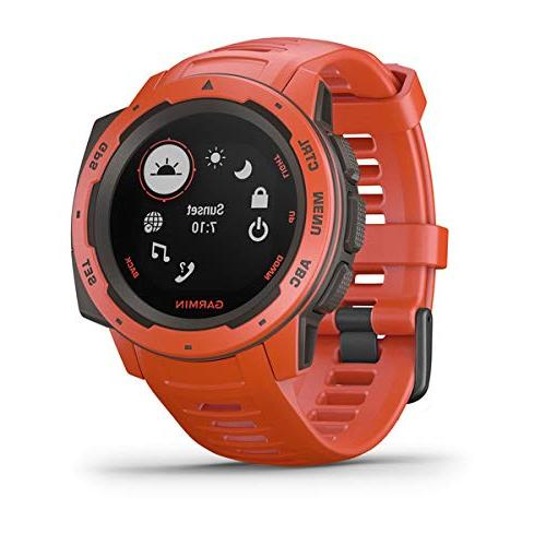 Garmin Instinct Outdoor Watch   with PlayBetter Portable Charger & SPUDZ Microfiber Towel   Watch Heart Rate