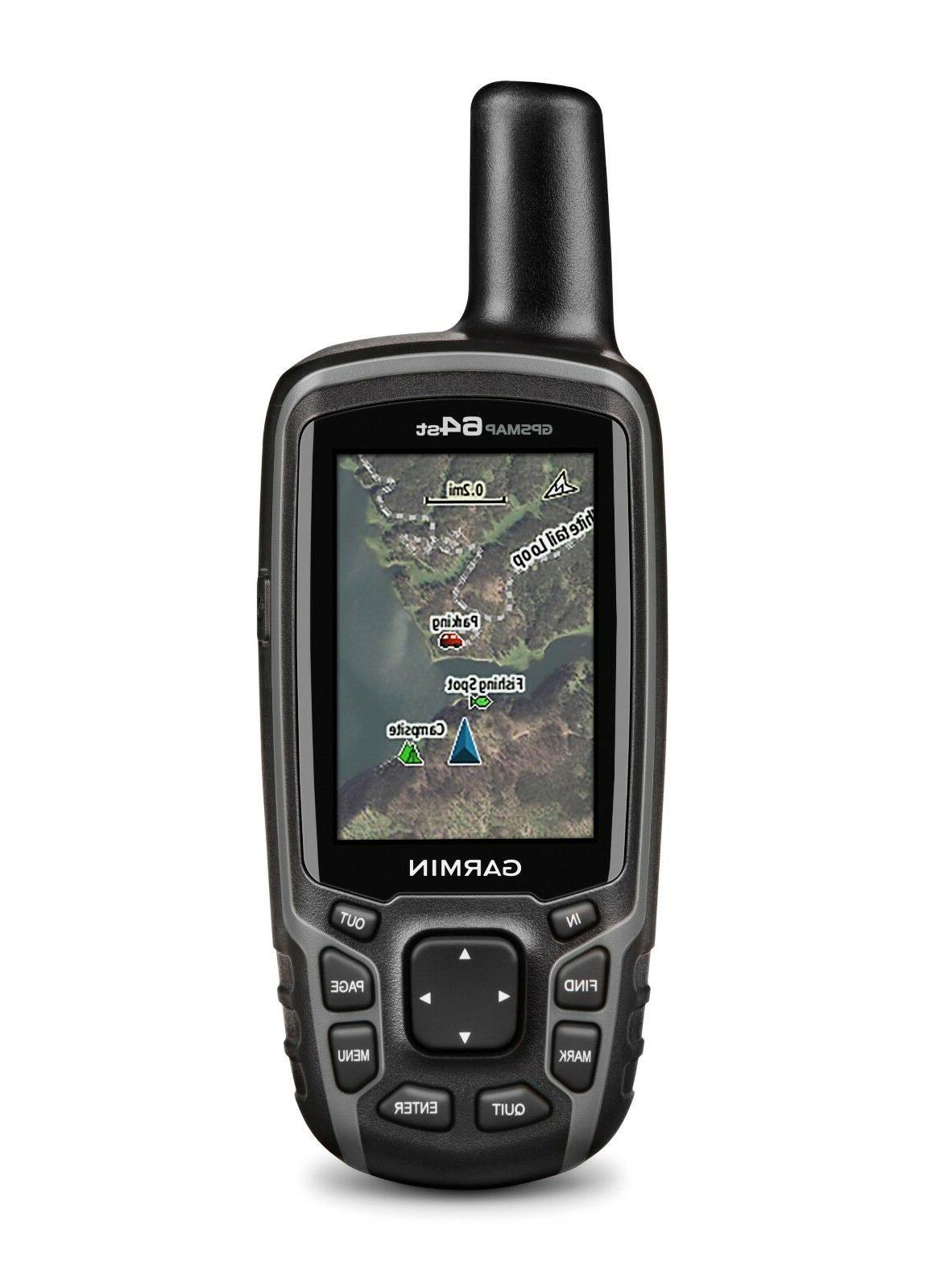gpsmap 64st outdoor handheld gps with topo