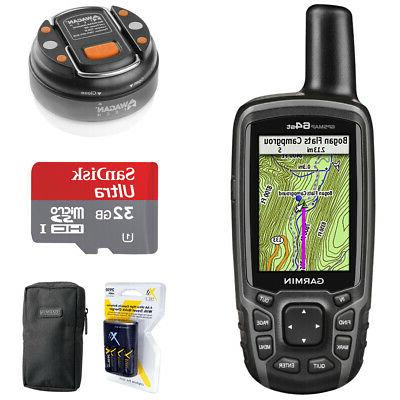Garmin GPSMAP 64st Worldwide Handheld GPS with 32GB Accessor