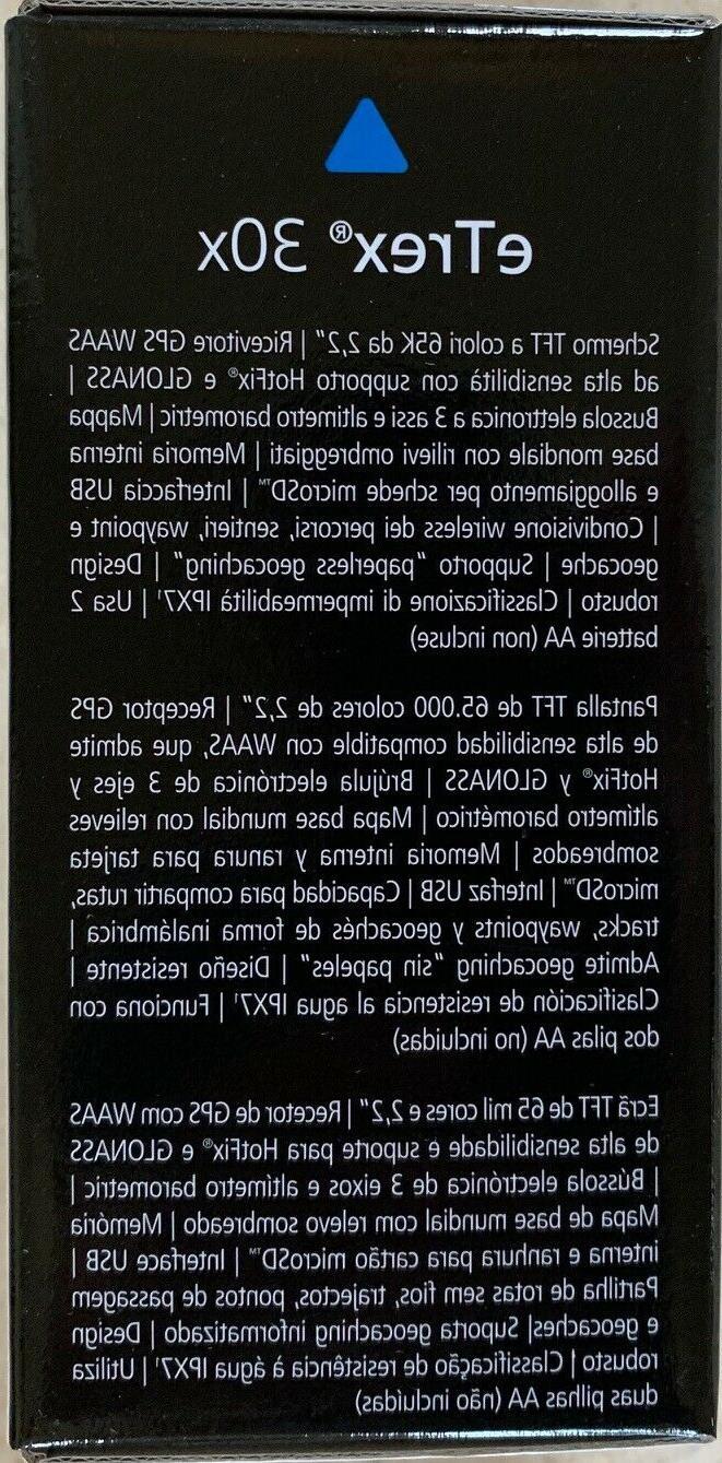 Garmin eTrex 30x Unit