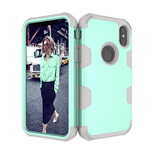 iPhone KMISS 3 1 PC+ Soft Combo High Dual Impact Protection Cover X 2017