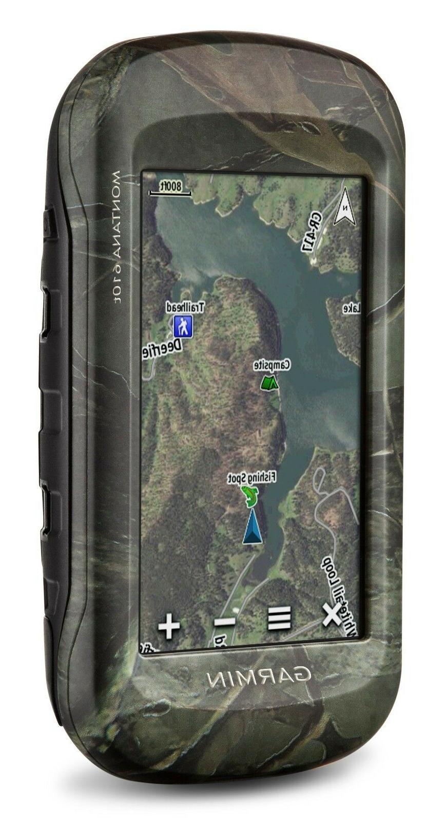 Montana 610t Camo Handheld GPS Navigator - Portable, Mountab