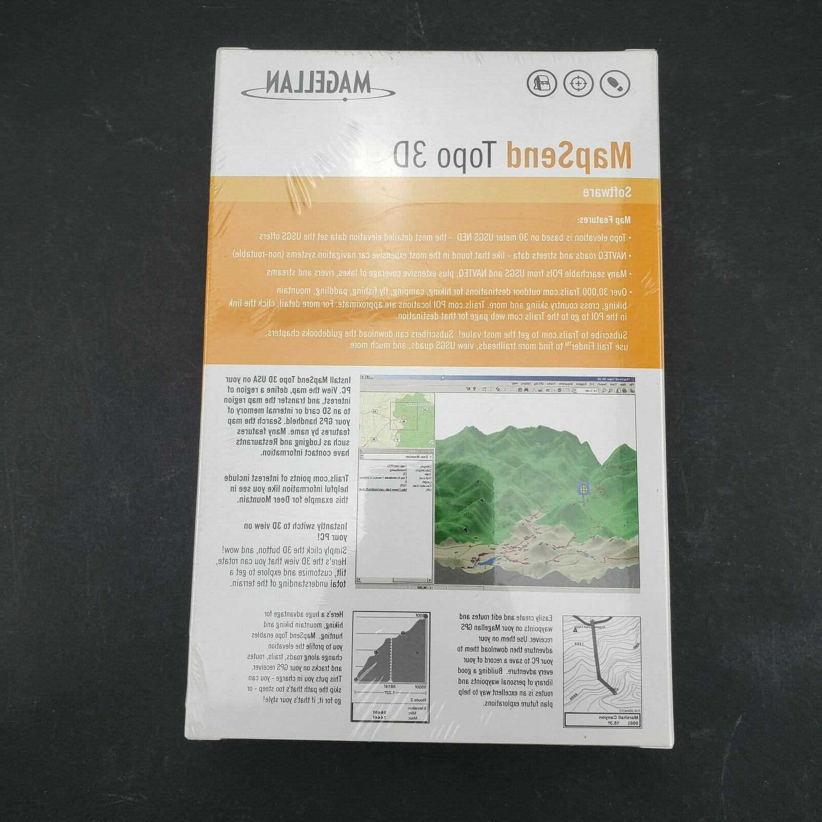 NEW/SEALED- Magellan Topo 3D Software - GPS USA