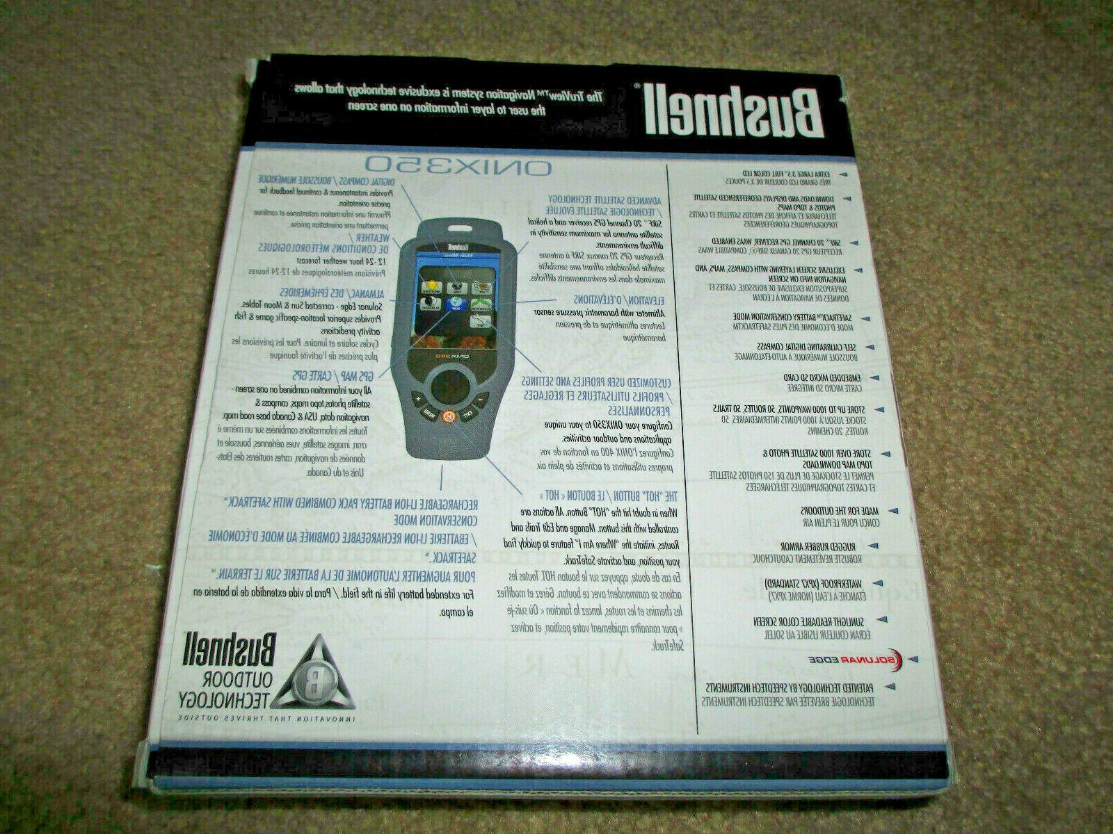 Bushnell ONIX 350 Handheld GPS New