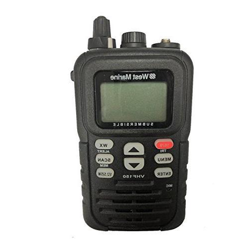 West Marine VHF150 DSC Handheld Marine Radio Submersible