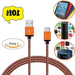 Micro USB Charger,  Nylon Braided Fastest charger cable for