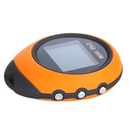 Kingzer Mini Yellow Portable Handheld GPS Navigation Locatio