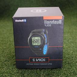 Bushnell Neo Ion 2 Golf GPS Watch, Black/Blue