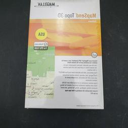 NEW/SEALED- Magellan MapSend Topo 3D Software - For GPS Hand