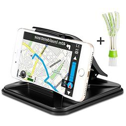 AFUNTA Car Dashboard GPS Holder with Mini Duster, Non-Slip C