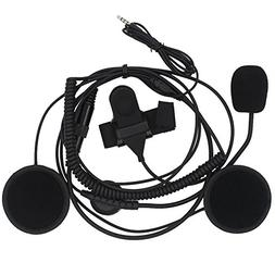 AOER 3.5mm Plug Open Half Face Audio Radio Headset Earpiece