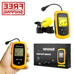 Venterior VT-FF001 Portable Fish Finder, Fishfinder with Wir