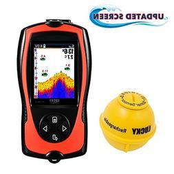 LUCKY Portable Fish Finder Transducer Sonar Sensor 147 Feet