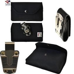 Rugged Black Canvas Super Strong Duty Belt Side Case with Me