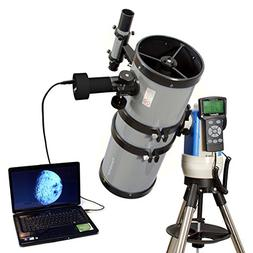 "Silver 6"" GPS Computer Controlled Reflector Telescope with 9"